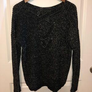 Black (Open Back) Sweater